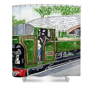 Please May I Drive? - Llangollen Steam Railway, North Wales Shower Curtain