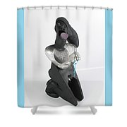 Please Please I' M On My Knees Shower Curtain by Michael Jude Russo