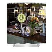 Please Wait To Be Seated Shower Curtain
