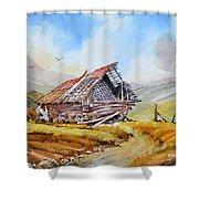 Pleasent Valley Barn Shower Curtain