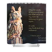 Pleasing In Your Sight - Psalm 19 Shower Curtain