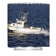 Pleasure Fishing Boat Shower Curtain