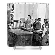 Pledge Of Allegiance, 1958 Shower Curtain by Granger