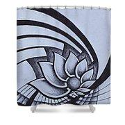 Pleiadean Daisy Shower Curtain