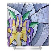 Pleiadean Sunflower Shower Curtain