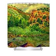 Plein  Air Of Eagle River Shower Curtain