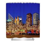 Plein At Blue Hour - The Hague Shower Curtain
