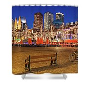 Plein Square At Night - The Hague Shower Curtain