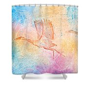 Pleistocene Dreams 2 Shower Curtain