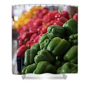 Plethora Of Peppers Shower Curtain