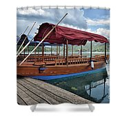 Pletna Boats Of Lake Bled Shower Curtain