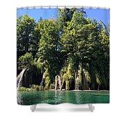 Plitvice Falls Shower Curtain