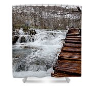 Plitvice Lakes Boardwalk Shower Curtain