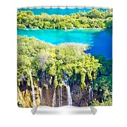 Plitvice Lakes National Park Vertical View Shower Curtain