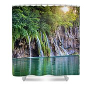 Plitvice Sunburst Shower Curtain