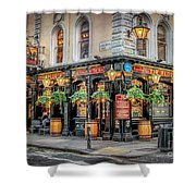 Plough Pub London Shower Curtain by Adrian Evans