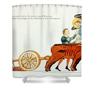 Ploughing, 12th Century Shower Curtain