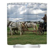 Plowing In Lancaster County Shower Curtain