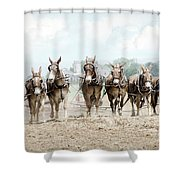 Plowing The Fields Shower Curtain
