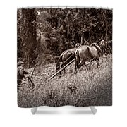 Plowman And Team Of Horses Shower Curtain