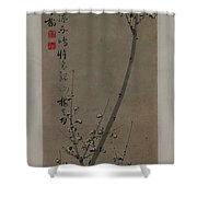 Plum Blossoms In Moonlight Shower Curtain