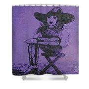 Plum Cowgirl Shower Curtain