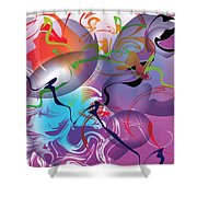 Plum Dance Shower Curtain