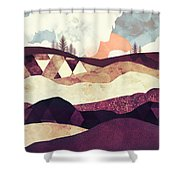 Plum Fields Shower Curtain