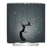 Plum Flower 0204 Shower Curtain
