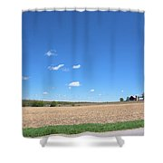 Plum Hollow Rural Shower Curtain
