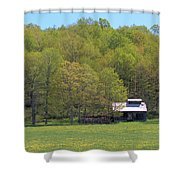 Plum Hollow Sugar Shack In Spring Shower Curtain
