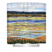 Plum Island Salt Marsh Shower Curtain