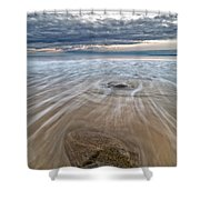 Plum Island Wave Energy Shower Curtain
