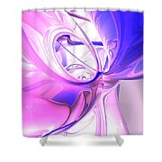 Plum Juices Abstract Shower Curtain