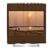 Plum Sunset Shower Curtain