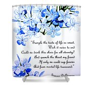 Plumbago   Poem Shower Curtain