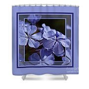 Plumbago Dance With Design Shower Curtain