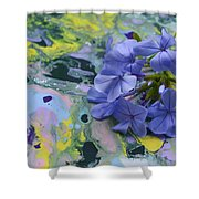 Plumbago Flowers Shower Curtain