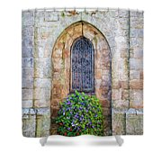 Plumergat, Brittany,france, Parish Church Window Shower Curtain