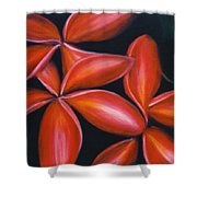 Plumeria Rouge Shower Curtain