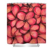 Plumerias Shower Curtain