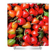 Plump Red Peppers Photo Stock Shower Curtain