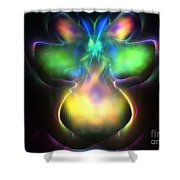 Pluto Firefly Shower Curtain
