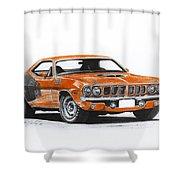Plymouth Barracuda 1973 Hemi Cuda Shower Curtain