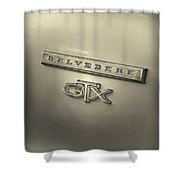 Plymouth Belvedere Gtx Fender Emblem Badge Shower Curtain