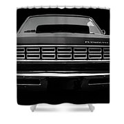 Plymouth Fury - Black Shower Curtain