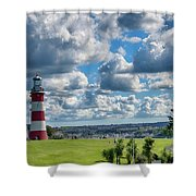 Plymouth Hoe And Smeatons Tower Shower Curtain