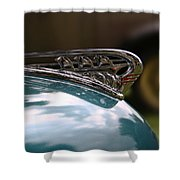 Art Deco Plymouth Hood Ornament Shower Curtain