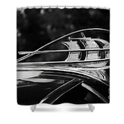Plymouth Hood Ornament Shower Curtain