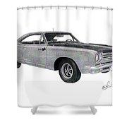 Plymouth Road Runner 1969 Shower Curtain